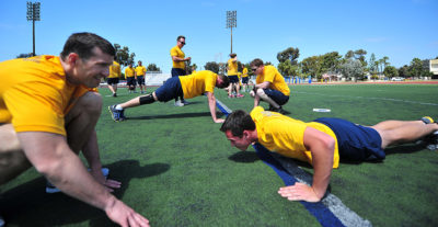 SWRMC Sailors perform the Physical Fitness Assessment