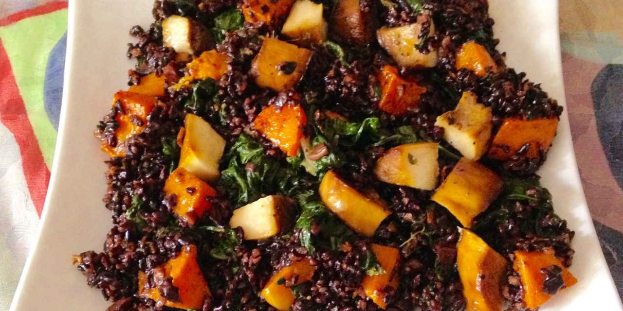 Black Rice & Mushroom Risotto