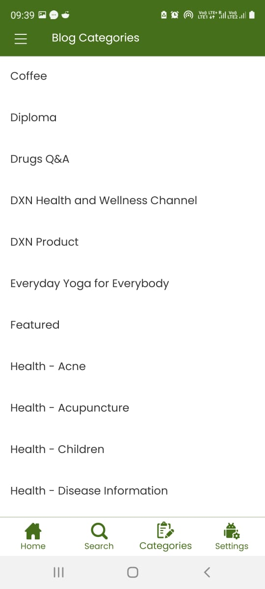 Holistic Meaning Health Application