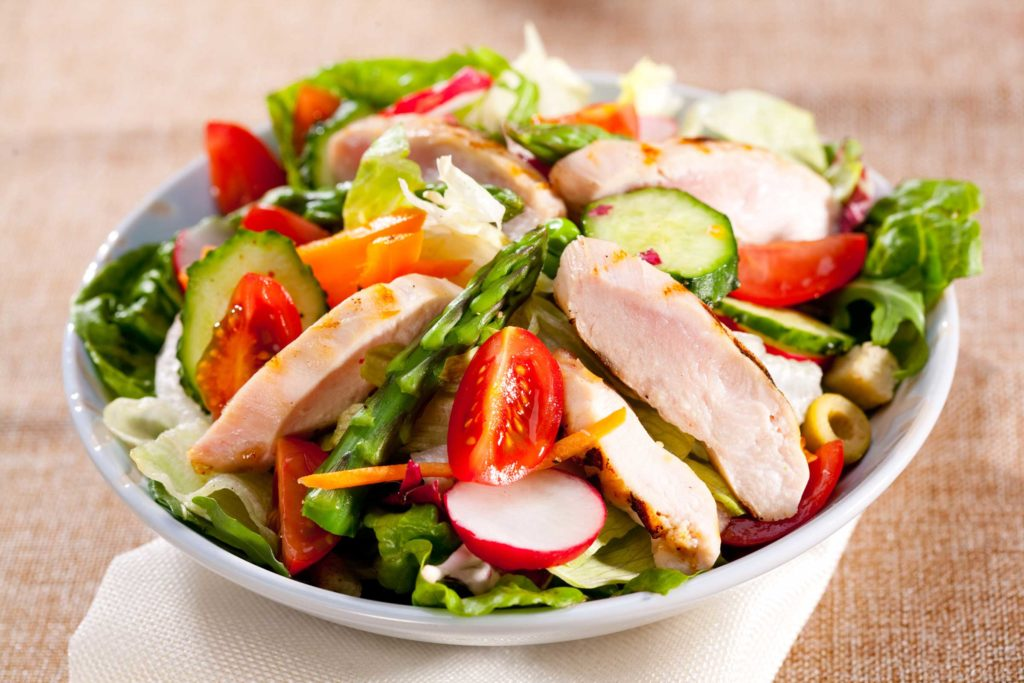 vegetable with chicken
