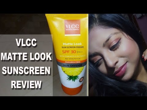 Best Sunscreen for Oily Skin Dry Skin And Normal Skin | VLCC SPF 30 Sunscreen Matte Look Review| Indian Makeup