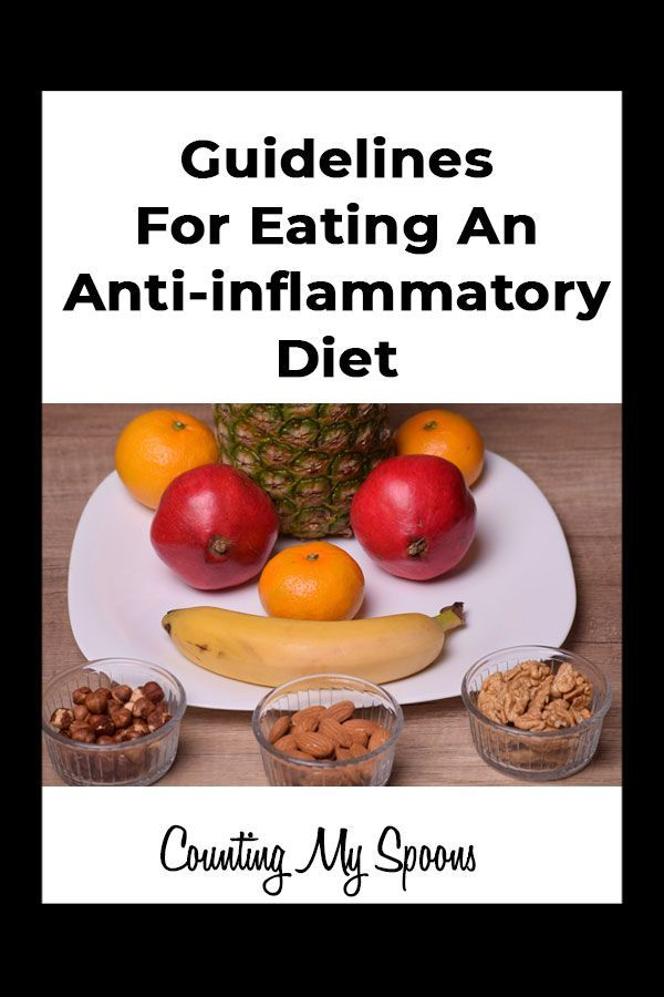 Guidelines for eating an anti inflammatory diet