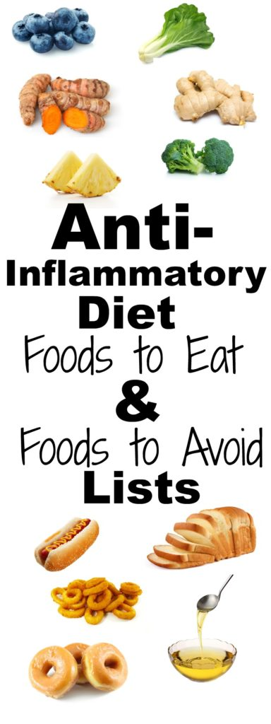 Anti Inflammatory diet foods to eat and foods to avoid
