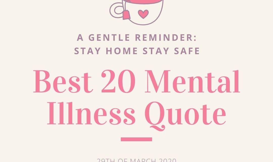 Best 20 Mental Illness Quote