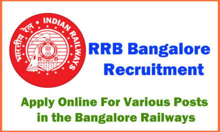 RRB Bangalore Recruitment 2019-2020 Notification| Apply Online