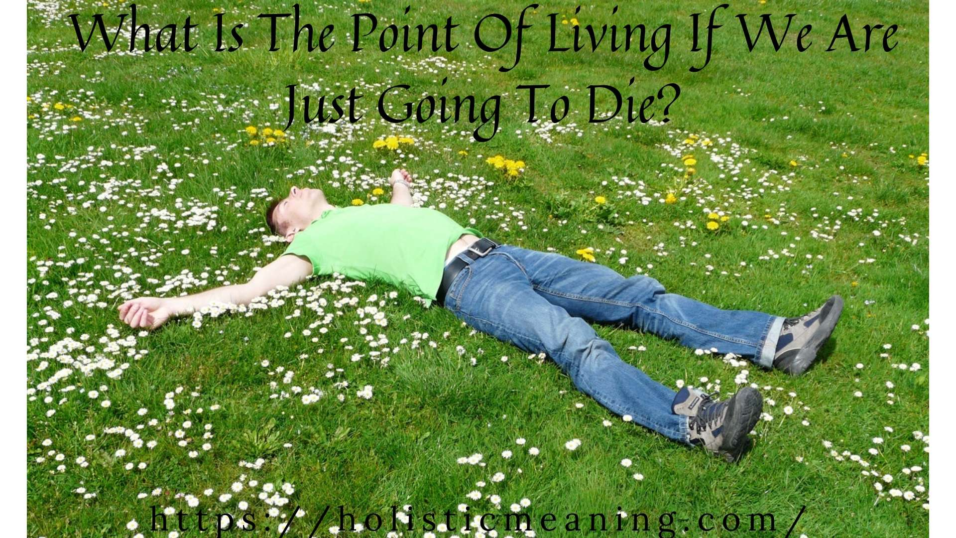 What Is The Point Of Living If We Are Just Going To Die