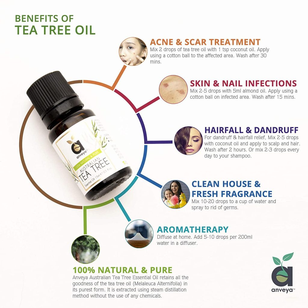 Anveya Australian Tea Tree Essential Oil