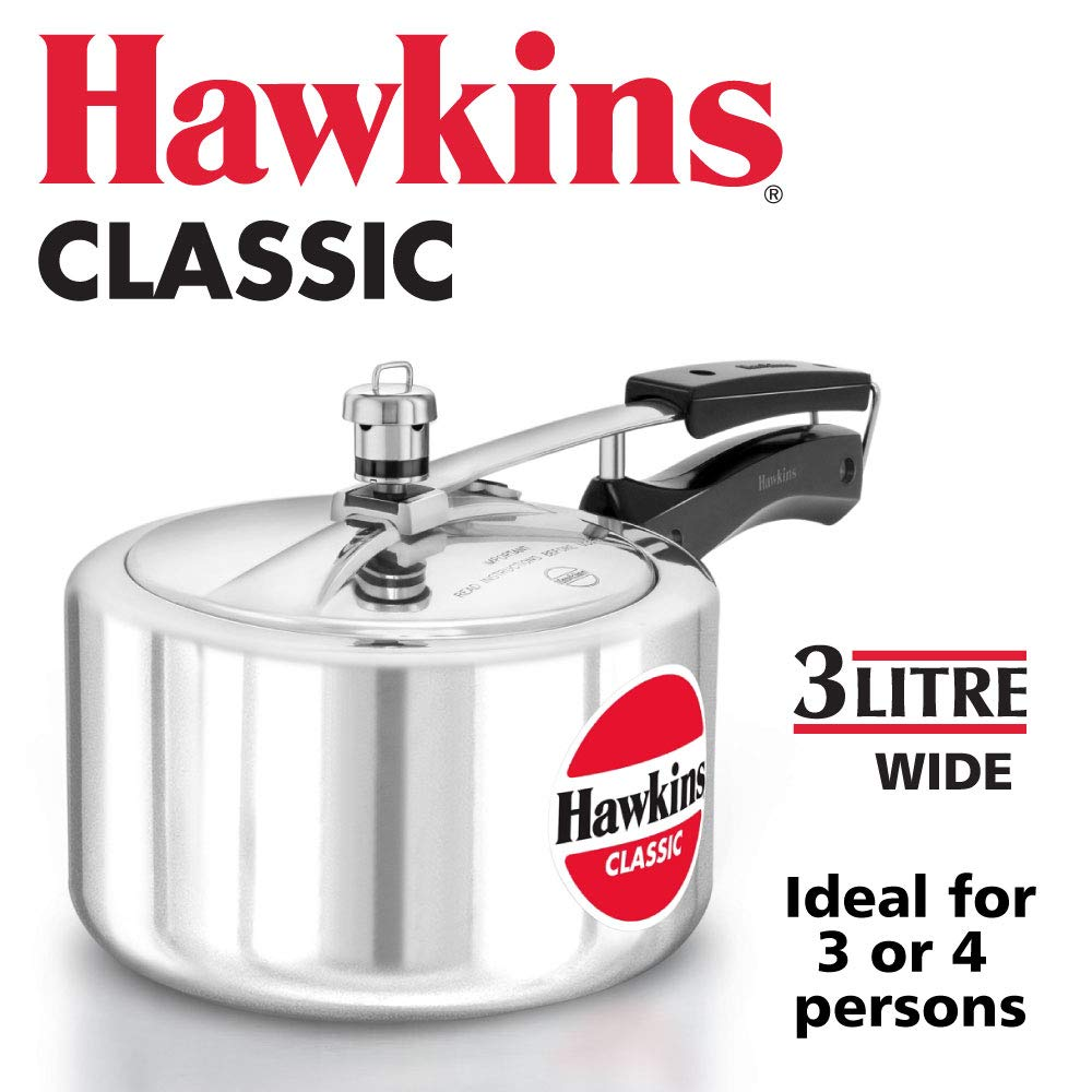 Hawkins Classic A30 3-Liter New Improved Aluminum Wide Mouth Pressure Cooker