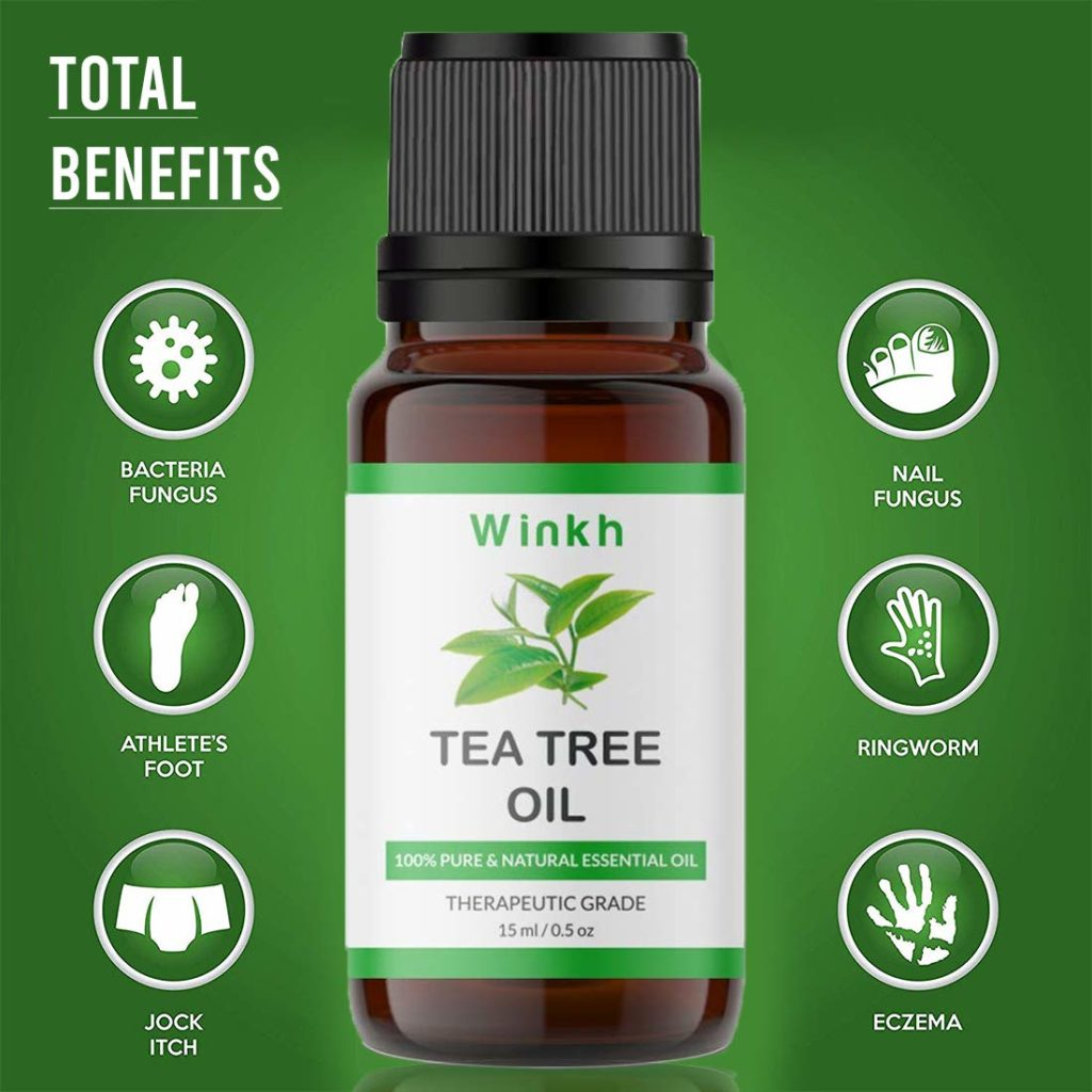 Winkh Pure and Natural Essential Tea Tree Oil