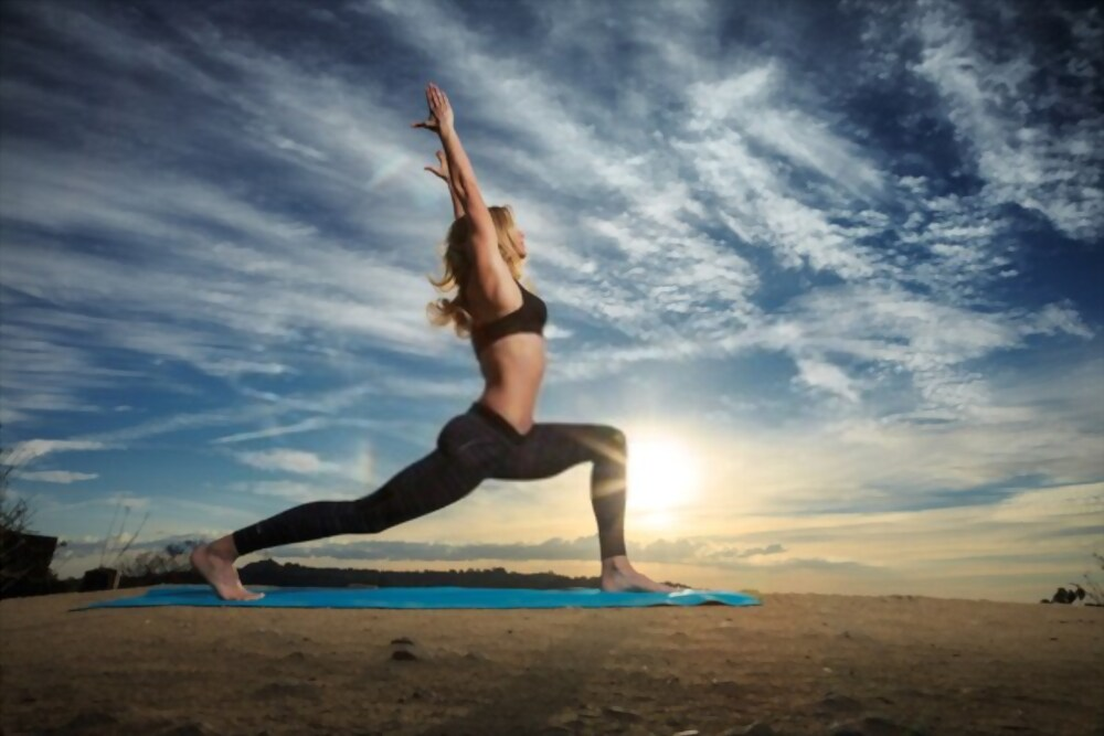 How To Cure Thyroid By Yoga - Warrior pose 1