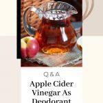 Apple Cider Vinegar As Deodorant