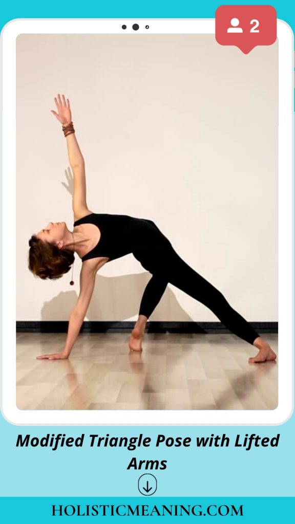 Modified Triangle Pose with Lifted Arms